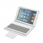 82-Key Bluetooth V3.0 Keyboard w/ Folding Leather Case for iPad Mini - White