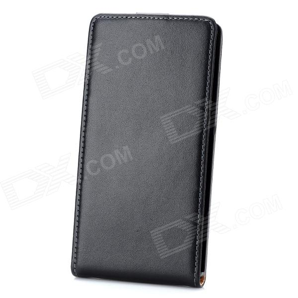 Stylish Up-Down Flip-Open Leather Case for Sony Xperia Z / L36H - Black