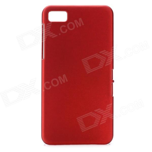 Protective Plastic Back Cover Case for BlackBerry Z10 - Wine Red