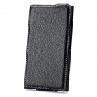PU Leather Up-Down Flip-Open Case for Nokia Lumia 920 - Black