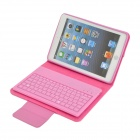 Bluetooth V3.0 82-Key Keyboard w/ Leather Case for Ipad MINI - Pink