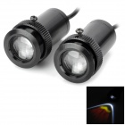 3W 220lm 1-LED Red / Yellow Welcome Logo Light Courtesy Door Light Lamp - Black (2 PCS)
