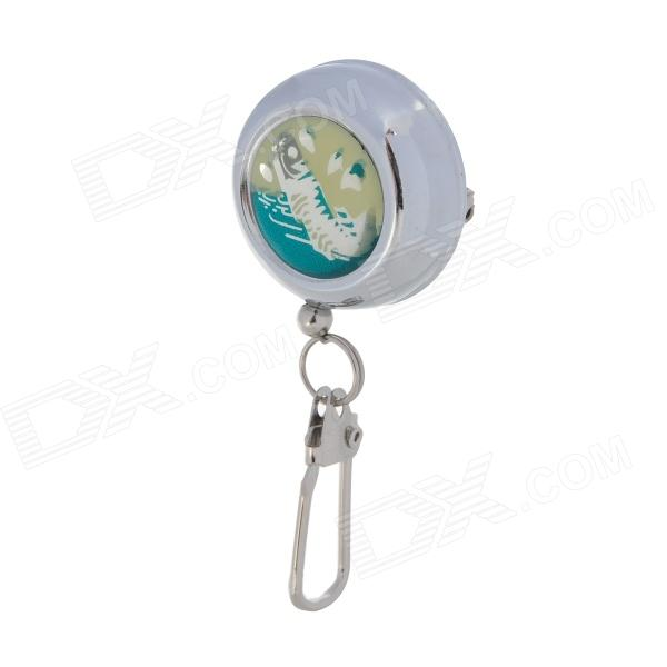 Aluminum Alloy Retractable Fishing Hanging Clip Buckle - Silver