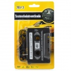 3,5 mm Jack Car MP3 CD Cassette adaptador convertidor - Negro (80cm)