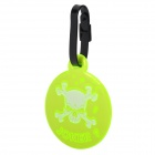 Skull Pattern Luggage Bag Tag - Fluorescence Green