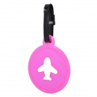 Cute Plane Pattern Luggage Bag Tag - Pink