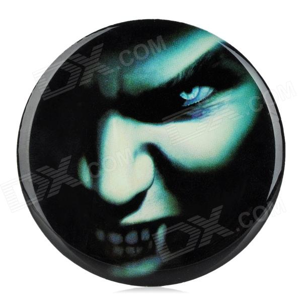 Ghost Teeth Pattern DIY Car PVC Soft Decoration Sticker - White + Black + Blue sc 202 fashionable diy scratch resistant pvc sticker for motorcycle black white 4 pcs page 2