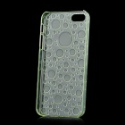 Water Drops Pattern Protective Plastic Back Case for Iphone 5 - Transparent Green
