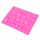 G-2 26-in-1 Silicone Cake / Bread / Mousse / Jelly / Chocolate Mold - Pink