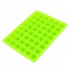 DIY 26 English Letters Shaped Grid Silicone Chocolate / Snack Mold - Green