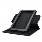 Lichee Pattern 360 Degree Rotatable Protective PU Leather Case for Amazon Kindle Fire - Black