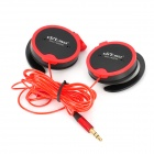 Ditmo DM-4000 Stereo Ear Hook MP3 / Cellphone / Audio Player Earphone w/ 3.5mm Jack - Red + Black