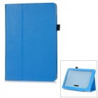 "Lychee Pattern Protective PU Leather Flip-Open Case w/ Sleep + Stand for 8.9"" Nook HD+ - Blue"