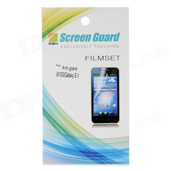 Professional PET Matte Screen Guard Film Protector for Samsung i9100 high quality pet screen protector for samsung i9100 transparent