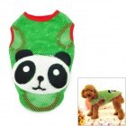 Panda Pattern Cute Cotton Hollow Vest for Pet Dog - Green (Size M)