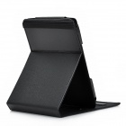 Protective PU Leather Adjustable Stand Case for Amazon Kindle 4 - Black