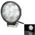 XLLED818W 18W 600lm 6-SMD LED White Car Off-Road Working / Front Fog / Snowploughing Lamp - Black
