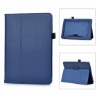 "Защитные Pattern Lichee PU Стенд чехол для NOOK HD + 8.9 ""- Deep Blue"