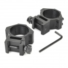 Universal Aluminum Alloy Gun Bracket Mounts w/ Hex Wrench - Black (30mm-Caliber / 2 PCS)