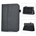 "Protective Lichee Pattern PU Stand Case for NOOK HD 7"" - Black"