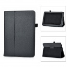 "Protective Lichee Pattern PU Stand Case for NOOK HD+ 8.9"" - Black"