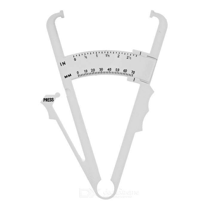 Personal Accurate Measure Body Fat Caliper - White