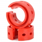 D-Type Car Spring Rubber Bumper Retainer - Red (2 PCS)