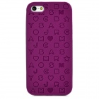 English Letters Style Protective Silicone + Plastic Back Case for Iphone 5 - Deep Pink