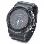 Skmei 0966 Sport Mineral Dial Plastic Band Electronic Digital + Analog Wrist Watch for Men - Black