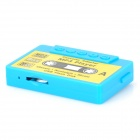 Cassette Style MP3 Player w/ TF Slot - Blue + Yellow