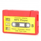 Cassette Tape Style MP3 Player w/ 3.5mm Jack + TF Slot + Mini USB + Earphone - Red + Yellow