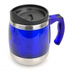 D016 Stainless Steel Vacuum Cup Bottle Thermos w/ Handle - Silver + Blue + Black (500ml)
