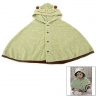 Cute Frog Pattern Plush Baby Mantle / Cloak - Light Green