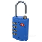 JUST LOCK TSA301 Zinc Alloy Travel Coded Lock - Blue