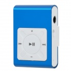 Mini USB Rechargeable Aluminum Alloy MP3 Player w/ TF Card Slot / Earphone - Blue + White