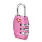 JUST LOCK TSA331 Zinc Alloy Travel Coded Lock - Purplish Red