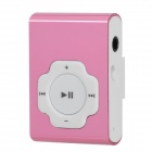 Mini USB aufladbare Aluminum Alloy MP3 Player w / TF Card Slot / Kopfhörer - Pink + White