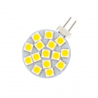 G4 78lm 2800~3200K 15-5050 SMD LED Warm White Household Lighting Lamp Bulb - White + Yellow