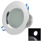 LGX130306Q 7W 350lm 7000K 14-5630 SMD White Light Ceiling Lamp - Silver (90~265V)