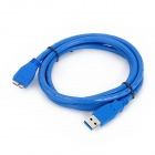 USB 3.0 Male to Micro 5pin B Male Adapter Cable - Blue (150cm)