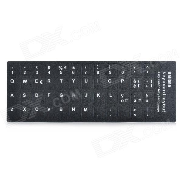 Matte 48-Key Keyboard Sticker - Black (Italienisch)