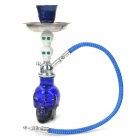 FS214 Cool Ghost Head Style Ceramic Shisha Hookah Water Pipe Set - Blue + Silver