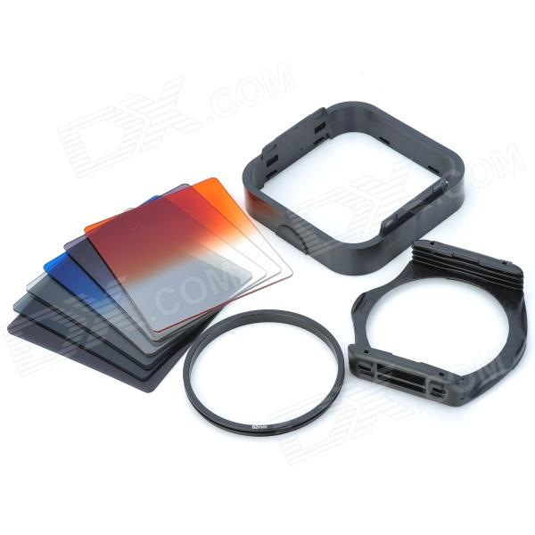SHSYKJ07 10-in-1 Filtros graduales Lens + ND + lente 82mm Anillo Set para lente de cámara de 82mm - Negro