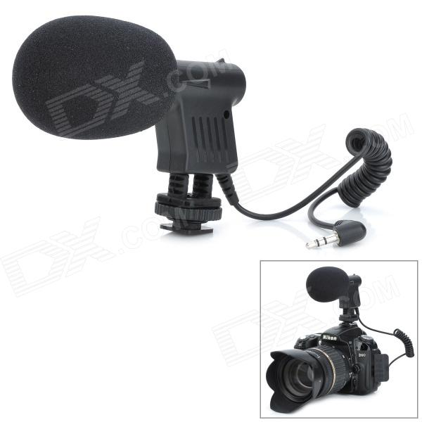 Commlite CVM-10 Directional Microphone for DSLR / Video Condenser - Black (3.5mm Plug)