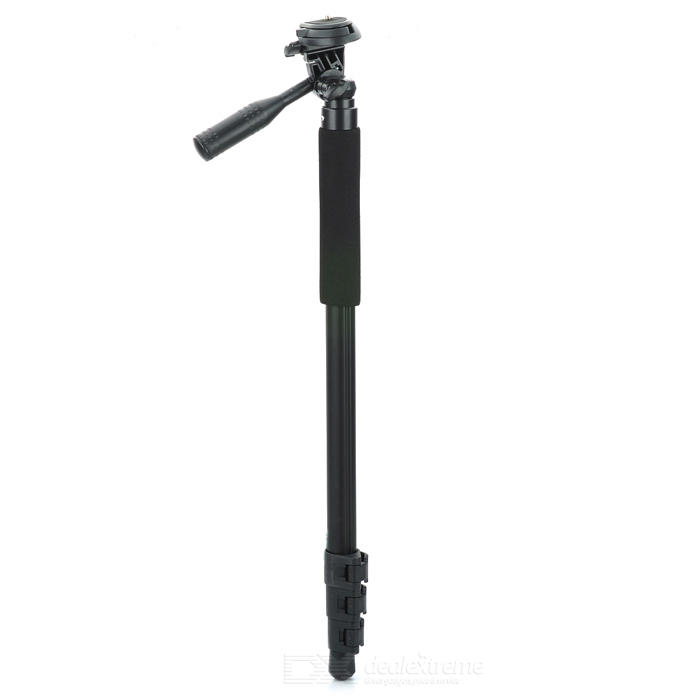 Portable Universal Aluminum Alloy Monopod for DSLR Canon 5D II / Nikon D7000 + More - Black hiinst black portable and durable waterproof portable carrying storage aluminum alloy case box for spark drop aug15
