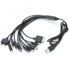 10-in-1 USB Charging Cable for LG / iPhone 4S / Samsung / Nokia / HTC / LG / Sony Ericsson (1.3m)
