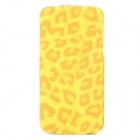 Leopard Style Protective Flip-Open PU Leather Case for Iphone 5 - Yellow