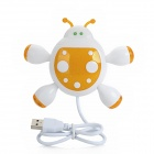 Nette Beetle Form 480Mbps 4-Port USB 2.0 Hub - White + Deep Orange (45cm-Kabel)
