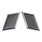 The Fine Prodcut CH-006 Vehicle Car Decorative Side Air Flow Vent Stickers - Black + Silver (2 PCS)