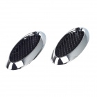 The Fine Prodcut CH-001 Vehicle Car Decorative Side Air Flow Vent Stickers - Black + Silver (2 PCS)